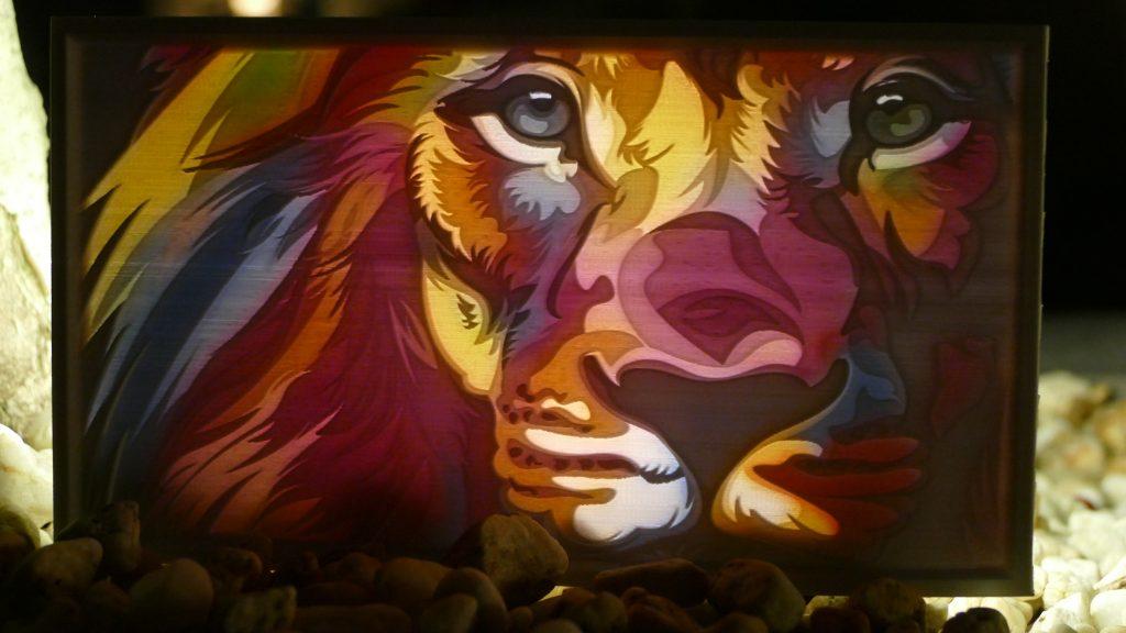 How to make a color lithophane lion preview