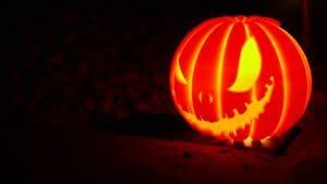 Halloween 3D printed pumpkin lithophane 3D printed with light side