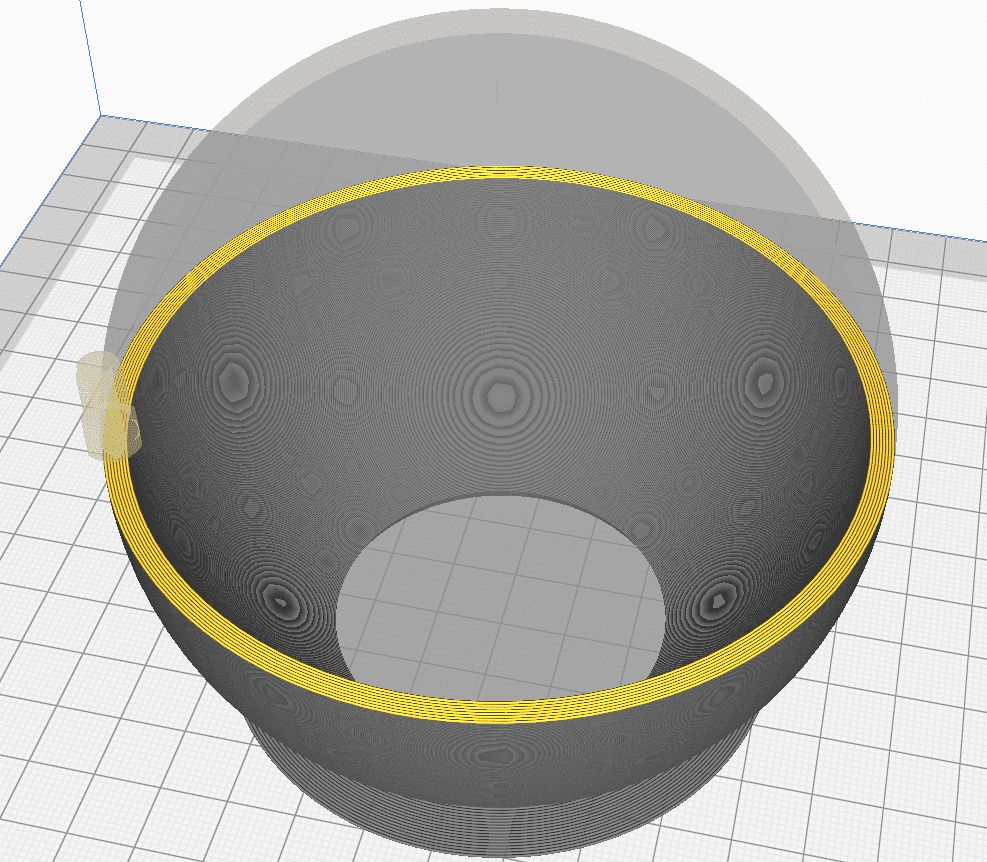 Lithophane slicer settings Sphere in Cura