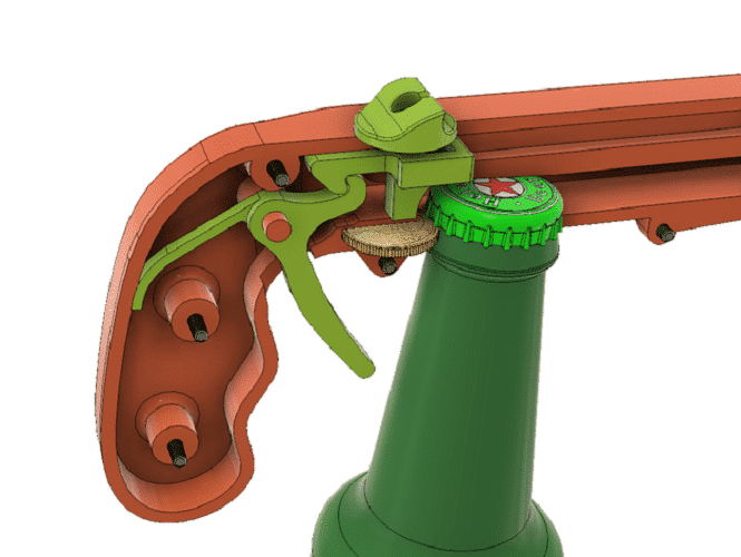 Bottle Opener and Cap Gun​ 3D print