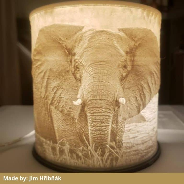 Eryone matte white filament lithophane